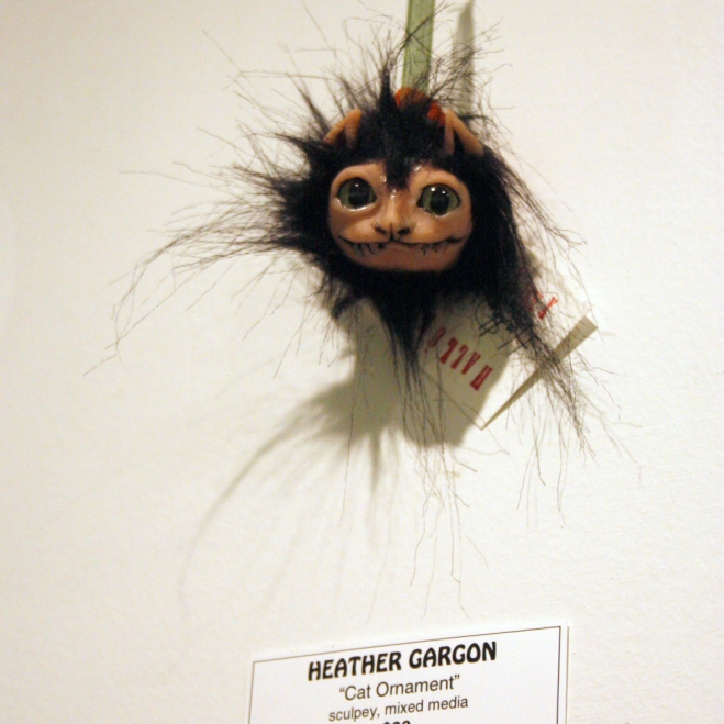 Cat Ornament by Heather Gargon