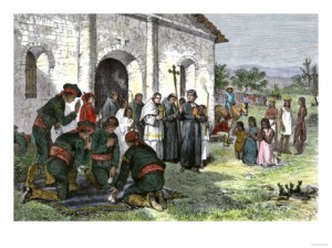california-mission-with-padres-spanish-soldiers-and-native-americans