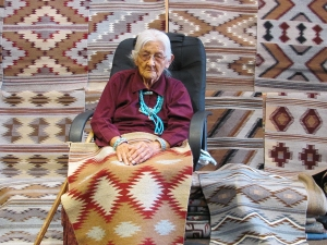 Morgan Mae 90 yr old Navajo Weaver
