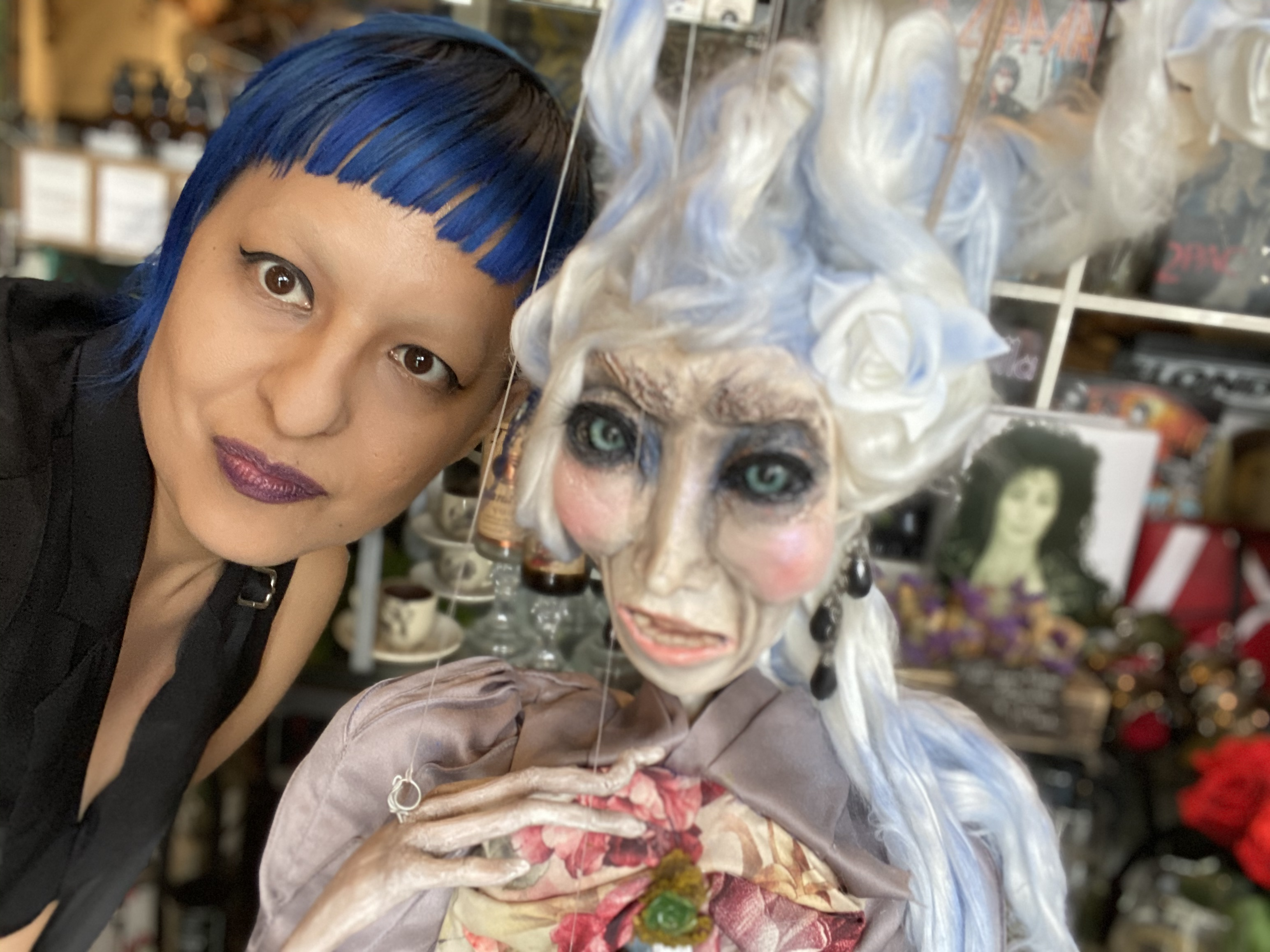 Embry Blue and Serenity Listen's Doll at Hyaena Gallery Burbank